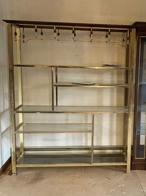 Mid century Brass shelving for Sale in Plainville, CT