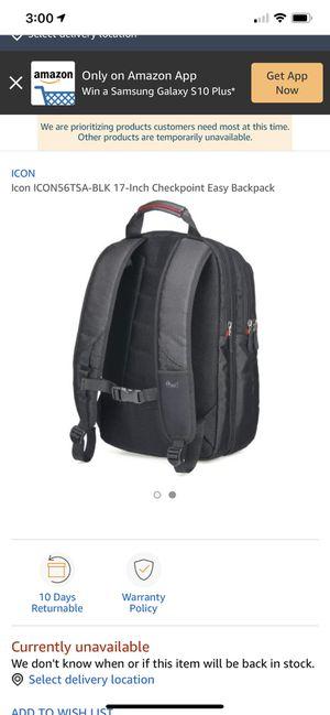 ICON 56TSA laptop BACKPACK for Sale in Corona, CA