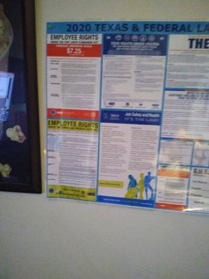 2020 labor law compliance posters for Sale in Beaumont, TX