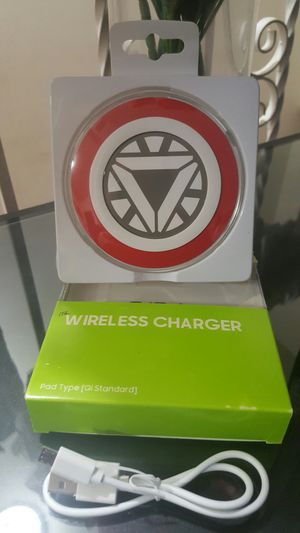 Iron Men Qi Wireless Charging Pad for Samsung Galaxy Series S6/S7/S8/S9/Note5/6/ for Sale in Queens, NY