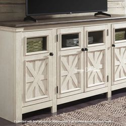 NEW. EXTRA LARGE TV STAND, 74 inch TV STAND. SKU#TCW647 for Sale in Westminster,  CA
