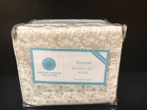 New in Package Flannel King Sheet Set for Sale in Burien, WA