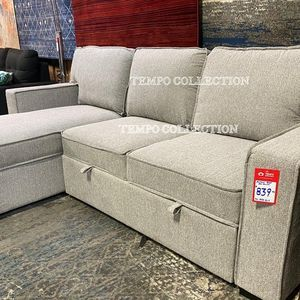 NEW, Grey Sectional w/ Pull-Out Sleeper, SKU#TCCM6964 for Sale in Santa Ana, CA