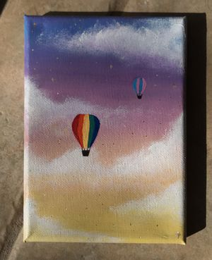 Hot Air Balloon in Sunset painting (7inchx5) for Sale in Springfield, VA