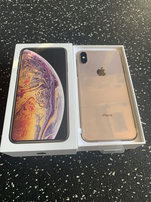 Unlocked iPhone XS MAX 256GB Gold with Box Excellent for Sale in San Jose, CA