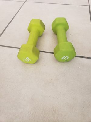 5 lb weight set for Sale in Tempe, AZ
