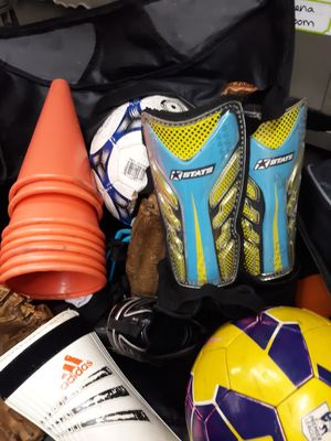 Soccer balls and soccer shoes baseball gear for Sale in Tullahoma, TN