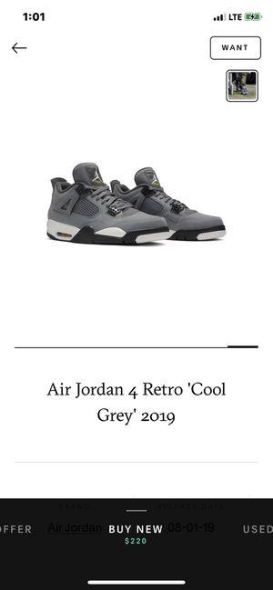Air jordan 4 Retro Cool Grey for Sale in Dallas, TX