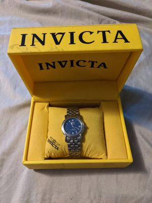 Men's Silver Tone Invicta Wrist Watch W/ Date Window Blue Face Water Resistant for Sale in Elko New Market, MN