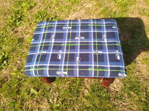 SMALL Seahawks inspired footstool for Sale in Vancouver, WA