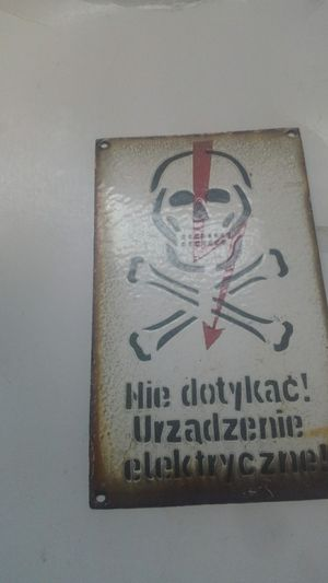 German ww 2 electric fence sign off fence in poland for Sale in Springfield, GA