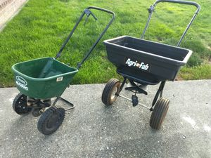 Two fertilizer/seed spreaders for Sale in Stanwood, WA