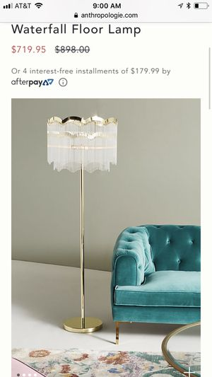 Anthropologie floor lamp for Sale in Silver Spring, MD