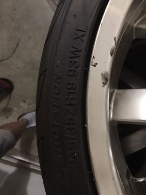Set of 4 wheels off a 2005 Acura RL. New tires, rims decent $200 firm for Sale in Dothan, AL