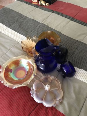 Collectible Glass Bowls and Pitcher for Sale in Chula Vista, CA