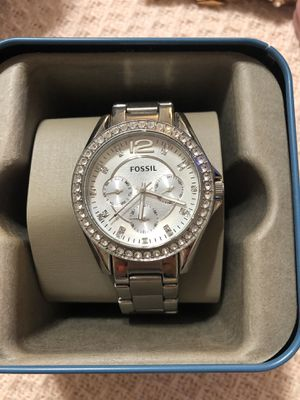 Fossil women's watch with diamonds for Sale in Paso Robles, CA