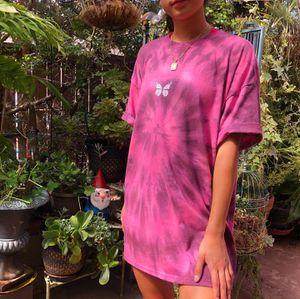 Oversized hot pink & black tie dye t shirt ✨ for Sale in Hesperia, CA