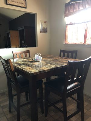 Counter height kitchen table and buffet set for Sale for sale  Brooklyn, NY
