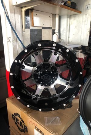 New set of 17x9 Gear wheels dual 6-lugs 6x135 and 6x139.7 for Sale in Los Angeles, CA