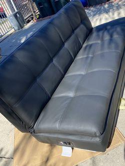 Serta Black Faux Leather Sofa Bed for Sale in Chula Vista,  CA