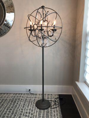Spectacular Orbital Crystal Floor Lamp for Sale in Flower Mound, TX