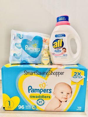 Pampers bundles wipes soap baby detergent for Sale in Jacksonville, FL