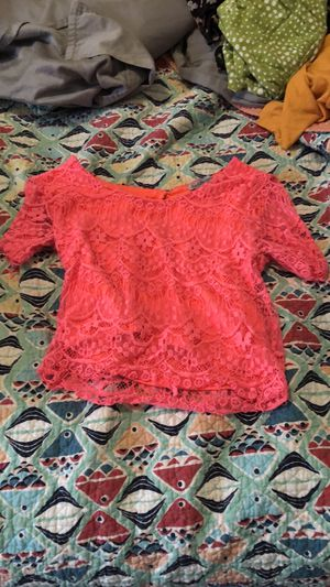 Charlotte Russe Hot Pink Lace Crop Top (Size S) for Sale in Odessa, FL