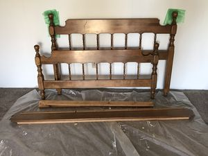 Standard full size solid wood bed frame for Sale in Edgewood, WA