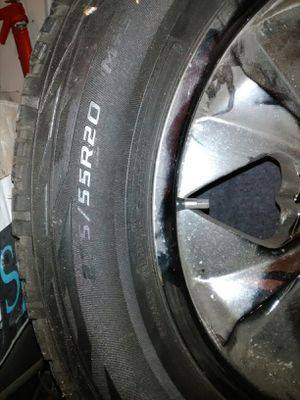 20 inch chrome rims and tires for Sale in St. Louis, MO