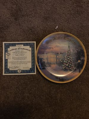 Thomas Kinkade Christmas plate for Sale in Atchison, KS
