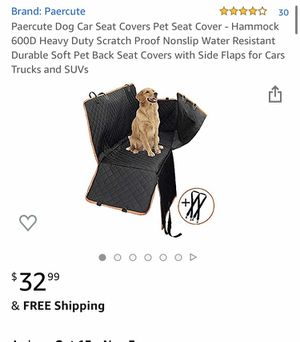 Dog car seat Cover for Sale in Apple Valley, CA