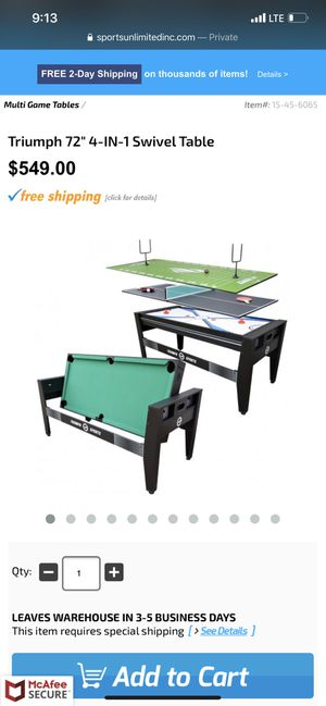 Pool Table, Ice Hockey Table & Ping Pong Table for Sale in Vernon, CA