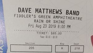 Dave Matthews band 4 tickets for Sale in Colorado Springs, CO