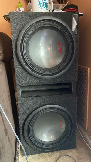 """2x 12"""" Alpine subwoofers in a ported OM ( Obsession Motors) Box for Sale in Germantown, MD"""