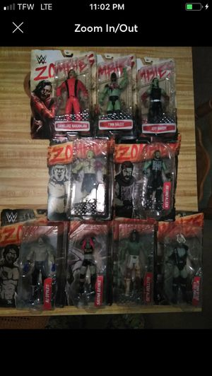 SET OF 9 WWE ZOMBIEFIED ACTION FIGURES for Sale in Tallahassee, FL