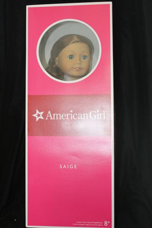 "American Girl Saige 18"" Doll of the Year 2013 Sage Retired NIB for Sale in Kissimmee, FL"