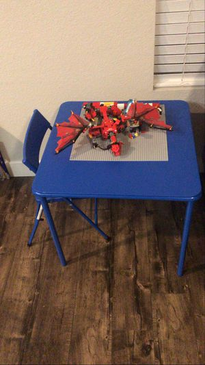 Folding kids table and folding chair for Sale in Lakeside, CA