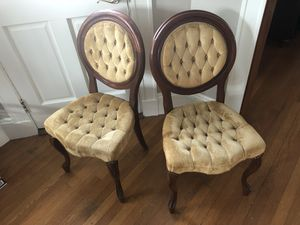 Antique Carlton McLendon Victorian Slipper Chairs for Sale in Boston, MA