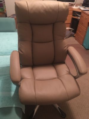 Tan leather office chair for Sale in Boca Raton, FL