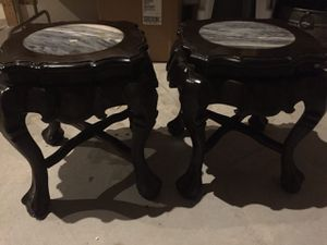 A two beautiful end table with marble top for Sale in Wichita, KS