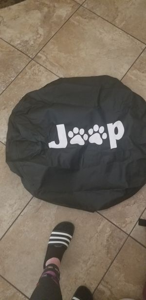 Jeep wrangler tire wheel cover doggie paw design for Sale in Chandler, AZ