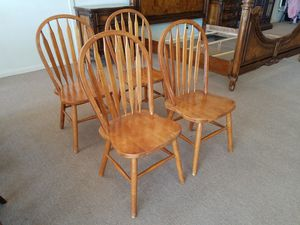4 dining chairs kitchen chairs $80 for set for Sale in Tulsa, OK