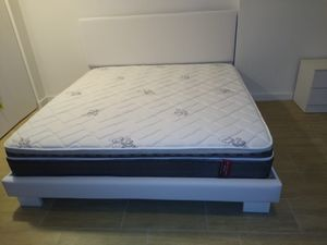 King bed frame new in the box with the mattress and free delivery and free set up for Sale in Hialeah, FL