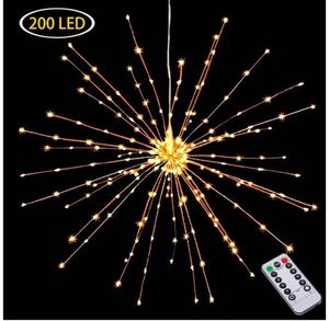 Hanging Decorative Lights,200 Led Firework Lights Battery Powered, Tent Chandelier Remote Control, Waterproof Starburst Lights for Sale in Rancho Cucamonga, CA