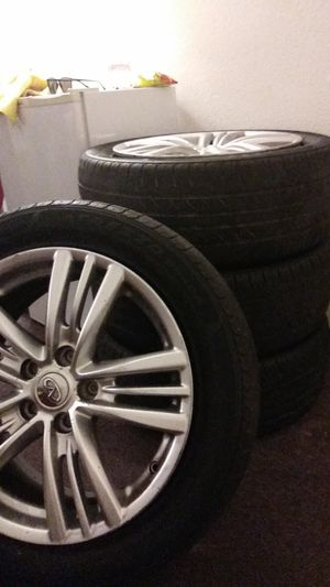 4 infinity rims w/tires for Sale in Riverside, CA