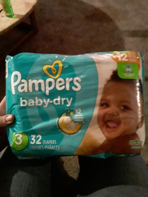 Diaper size 3 pampers for Sale in Beaverton, OR