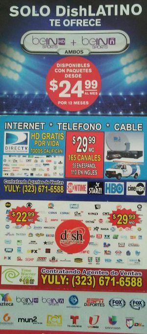Cable cable SERVICIO NO DEPOSITO TODOS CALIFICAN PARA EL BONO DE100 DOLARES LLÁMENOS ESPERO SU LLAMADA PARA TODO LOS PAISES GRACIAS for Sale in Santa Maria, CA