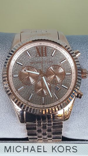 New Authentic Michael Kors BIG FACE Unisex Bling Watch for Sale in Montebello, CA