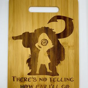 Moana Disney laser engraved cuttingboard Christmas gift kitchen pop for Sale in Los Angeles, CA