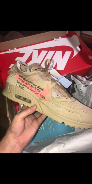 Off-White x Nike Air Max 90 Desert Ore for Sale in Laurel, MD